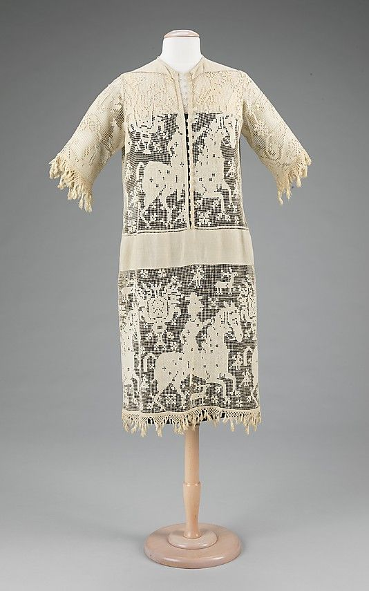 Dress Date: ca. 1920 Culture: probably French Medium: linen, cotton Accession Number: 2009.300.1241