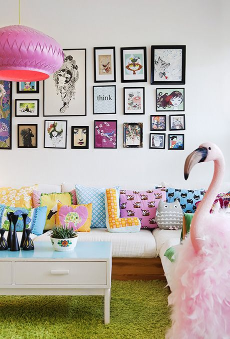 Colourful and quirky living room | Pink Friday – HOH