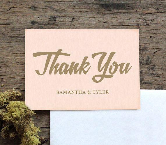 Custom thank you card wedding thank you card by customedgestudio