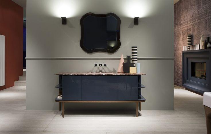 Mampara moderno para ba o mobiliario de dise o tono for Espejos para banos modernos