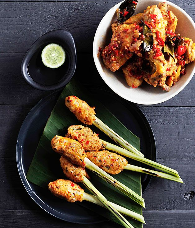 Balinese+seafood+satay+(Sate+lilit)