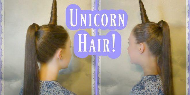 Einhorn-Frisur-Tutorial für Halloween oder Crazy Hair Day!
