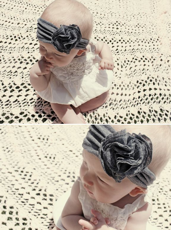 Baby headband DIY - super cute and could come in handy when I need to have a birthday or Christmas gift ready in a short amount of time. (making it for my kids and nieces)