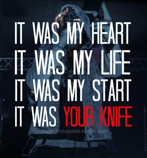 Hollywood Undead's My Black Dahlia lyrics #breakup #angry #lyrics