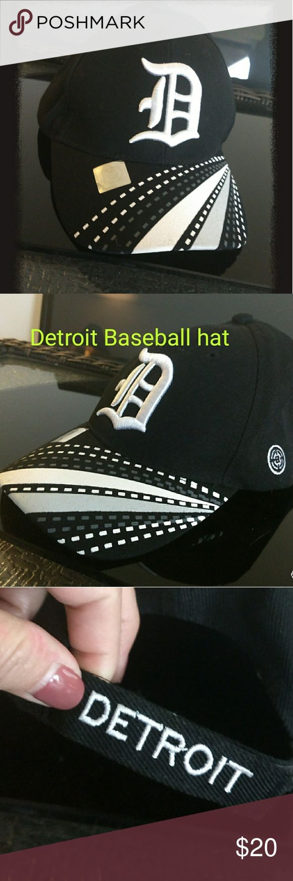 """Detroit Baseball hat. Adjustable back Ahhhhhhh... Detroit. I love the city! This is a Detroit Baseball hat , it says Detroit on the adjustable back.  The Classic """"D"""" and a great design. Never worn. I have a bunch. Accessories Hats"""