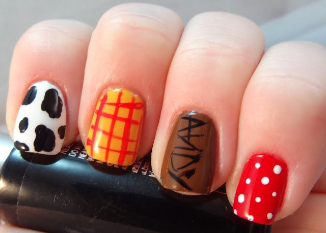 Adventures in LalaLand: Toy Story's Woody Skittles Nails