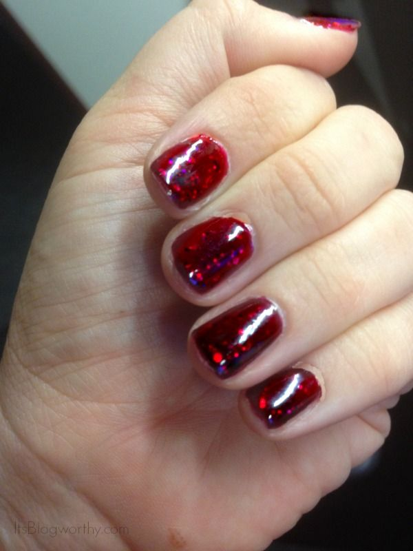 How to do a Jelly Sandwich manicure with translucent jelly polish and glitter. Great for fall! #Manicure