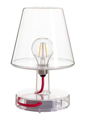 Lampe de table Transloetje / LED - Sans fil Transparent - Fatboy - Décoration et mobilier design avec Made in Design