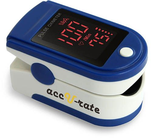 Fingertip Pulse Oximeter Blood Oxygen Saturation Monitor for Pulse Rate with Lanyard