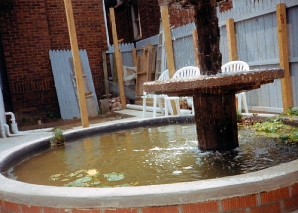 17 best images about koi ponds on pinterest backyard for Brick fish pond