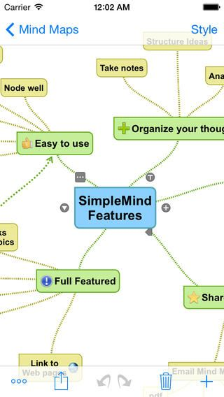 Another mind mapping tool, this one is available on the go as an app on the iPad, iPhone, or iPod