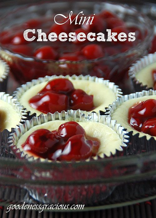 Mini Cheesecakes! Perfect little bites that can be customized to your guest's taste!