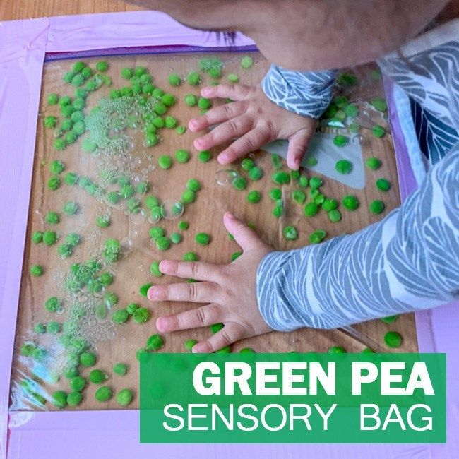 Green Pea Sensory Bag
