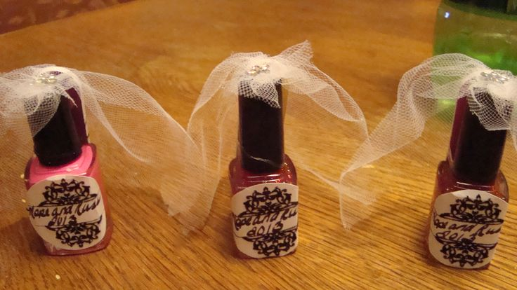 nail polish brides for bachlorette party favors