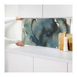 IKEA - LYSEKIL, Wandpaneel, Schützt die Wand vor Verschmutzung und erleichtert das Sauberhalten.Hitzebeständig, Wasser und Schmutz abweisend: für Wände hinter Arbeitsplatten und Kochfeldern (Gaskochfeld ausgenommen).