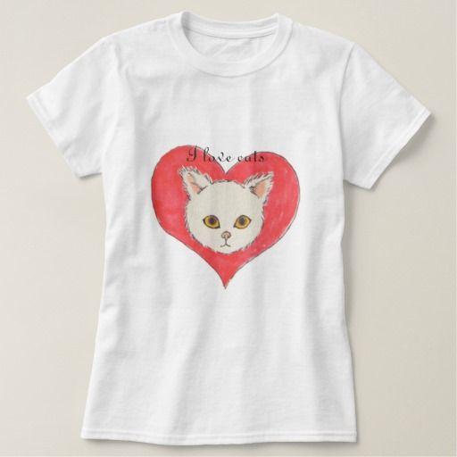 I love cats 【ハートと猫ちゃん】レディースベーシックTシャツ T-シャツ