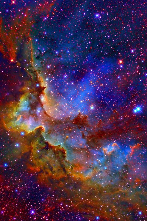 Wizard Nebula-the music on this link is a little unreal, but boy, do I wish that when I die, I could see the universe (multi-verses?) in this false color imaging in my afterlife, forever, with the same sense of wonder I have now....