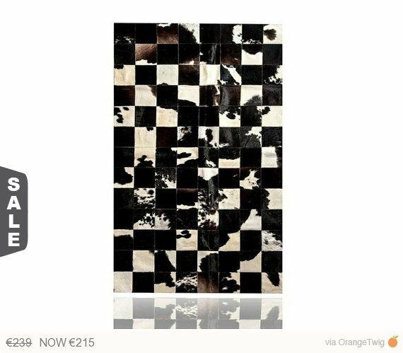 Vache tapis en peau Patchwork por PuraSpain en Etsy