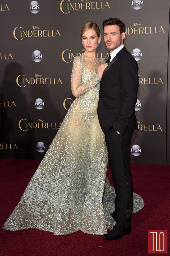 Lily-James-Richard-Maden-Cinderella-Los-Angeles-Movie-Premiere-Red-Carpet-Fashion-Elie-Saab-Couture-Tom-Lorenzo-Site-TLO (9)