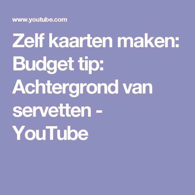 Zelf kaarten maken: Budget tip: Achtergrond van servetten - YouTube