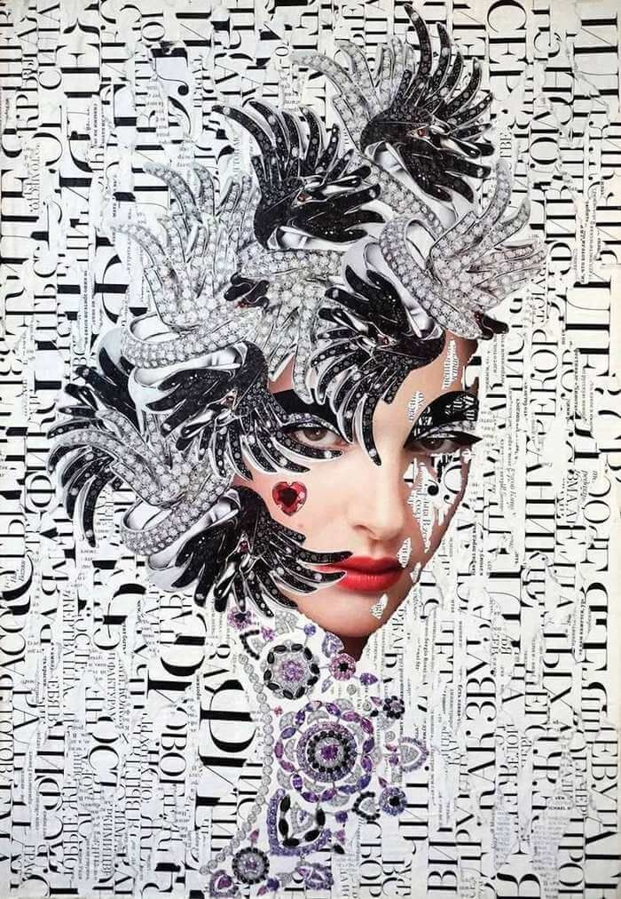 """Saatchi Art is pleased to offer the collage, """"*,"""" by Emilia Elfe. Original Collage: Paper on Paper, Other. Collages, Collage Artists, Mixed Media Artwork, Mixed Media Collage, Collage Collage, Emilia, Culture Pop, Trends, Altered Art"""
