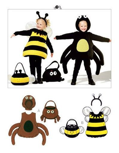 Kwik Sew 3803 Pattern for Spider and Bumble Bee Children's Costumes - Halloween!!!