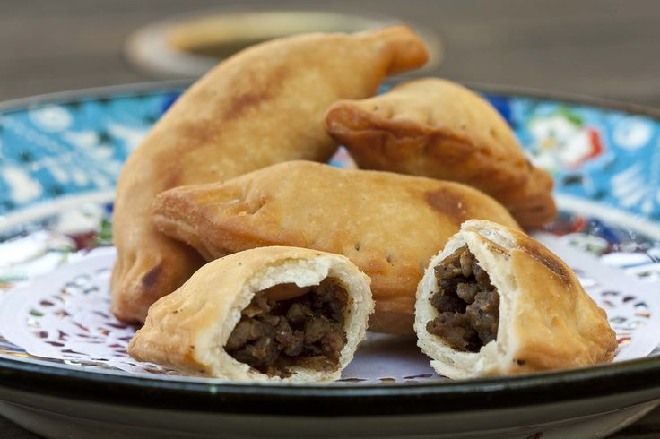Sambousk, spiced lamb, pine nuts and onion filled pastries. Very scrumptious!