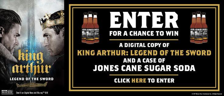 "Jones Soda ""King Arthur"" Giveaway Sweepstakes (20 winners) – Ends August 18th #sweepstakes https://www.goldengoosegiveaways.com/jones-soda-king-arthur-giveaway-sweepstakes-20-winners-ends-august-18th?utm_content=bufferb2419&utm_medium=social&utm_source=pinterest.com&utm_campaign=buffer"