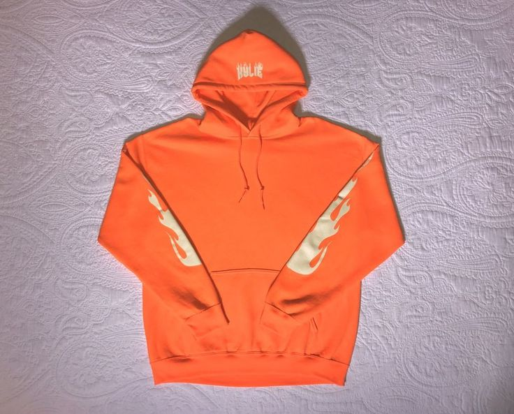 Authentic Kylie Jenner Flames Orange Hoodie Purchased From The Kylie Shop.  | eBay