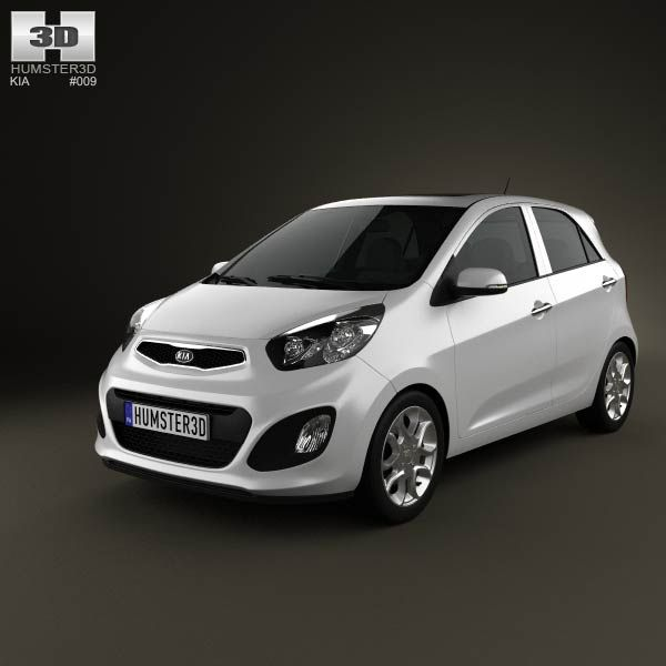 Kia Picanto (Morning) 5-door 2012 3d model from humster3d.com. Price: $75