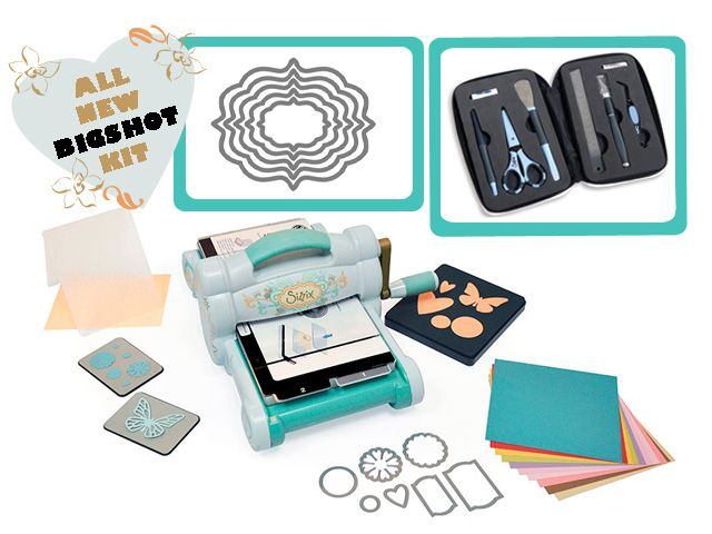 Cutting Edge Crafts, Craft Supplies, UK - **NEW & EXCLUSIVE** Mega Deal - Blue & Teal Sizzix Bigshot Starter Bundle **NEW & EXCLUSIVE** Mega...