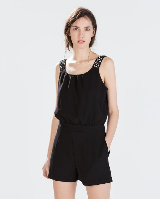 Image 1 of STRAPPY JEWELLED JUMPSUIT from Zara