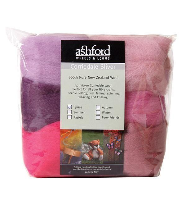 Ashford Corriedale Sliver colour theme packs | Le Jardin | Color