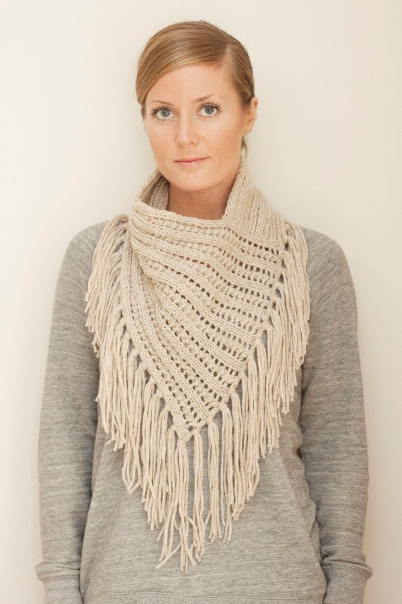 Knitting pattern for Arika Cowl bandanna kerchief cowl in eyelet rib with…