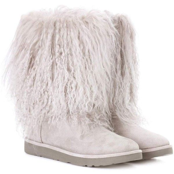 553f4bc064f Ugg Australia Lida Fur and Suede Ankle Boots ($428) ❤ liked on ...