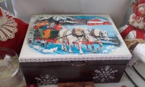 karácsonyi lovasszán - nosztalgia doboz (pozsgigi) - Meska.hu