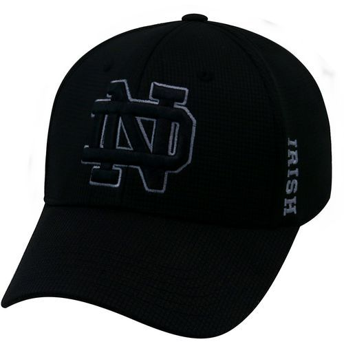 Top of the World Men's University of Notre Dame Booster Plus Tonal 3 Cap (Black, Size Flex Fit) - NCAA Licensed Product, NCAA Men's Caps at Academy...