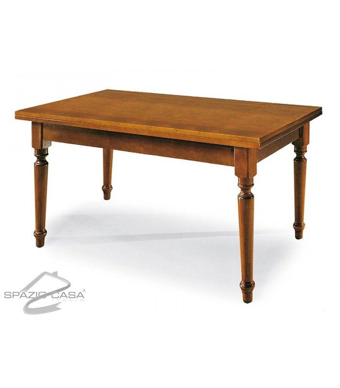 #offerta #tavolo rettangolare allungabile in #legno con piede a sciabola. Disponibile in varie misure e finiture: - Noce €209 invece di €269 - Ciliegio €219 invece di €279 - Bianco €269 invece di €329