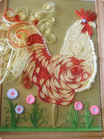 `Paper Quilling, Beautiful Roosters, Quilling Roosters, Roosters Quilling, Paper Art, Beautiful Quilling, Roosters Cards, Paper Crafts, De Paper