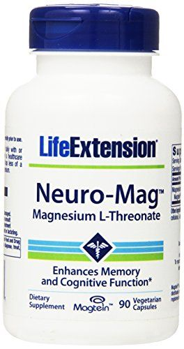 Life Extension Neuro-Mag Magnesium L-Threonate 90 Vegetarian Capsules -- Click on the image for additional details.