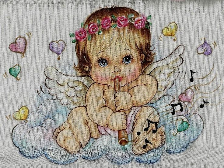 10 best good night angels images on pinterest good night - Patrones para pintar en tela ...