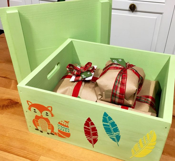 Custom wooden boxes make great presents too!