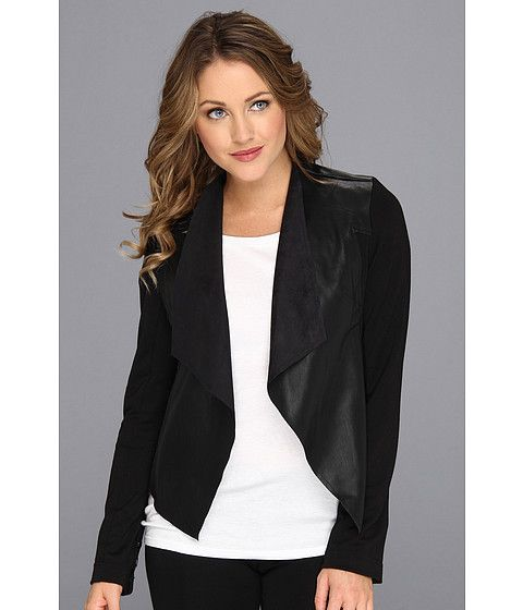 KUT from the Kloth Faux Leather Drape Jacket Black - Zappos.com Free Shipping BOTH Ways