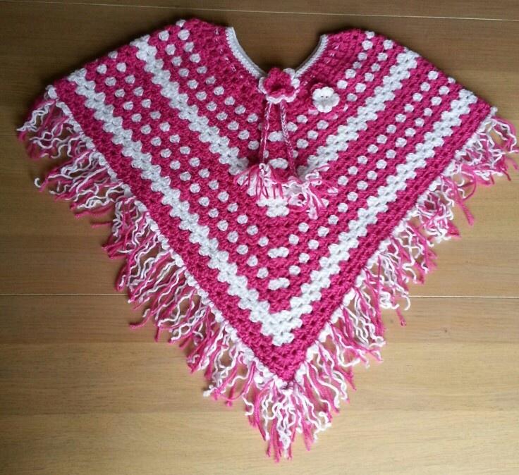 My crochet poncho for a little girl | Crochet / knitting ...