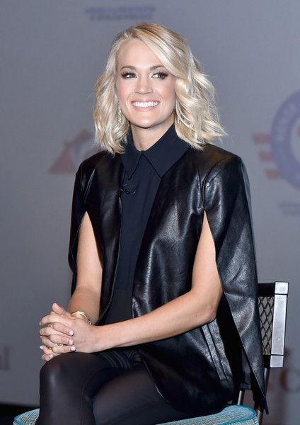 Carrie Underwood attends the Carnival Vista U.S. debut with Carrie Underwood and Godmother Miss USA to celebrate the Honor.Family.Fun Campaign and Operation Homefront at Carnival Vista, Manhattan Cruise Terminal on November 4, 2016 in New York City. - Carnival Vista U.S. Debut With Carrie Underwood And Godmother Miss USA Celebrating Honor.Family.Fun Campaign And Operation Homefront
