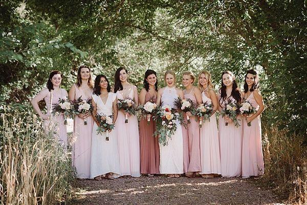 Blush bridesmaids  #wedding #weddings #weddinginspiration #engaged #aislesociety #mountainweddings