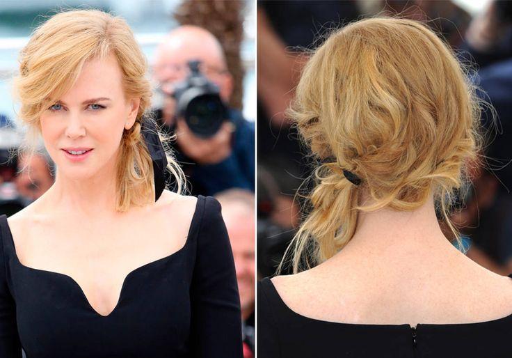 La queue-de-cheval basse avec ruban de Nicole Kidman - Coiffure : 1 ruban 10 possibilités - Elle