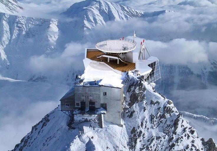 Punta Helbronner. Monte Bianco: 3466 metri