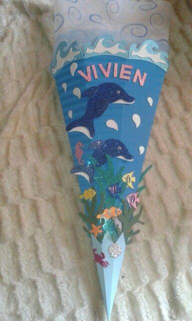 Delphine im Meer | Schultüten | Schultüte basteln ...