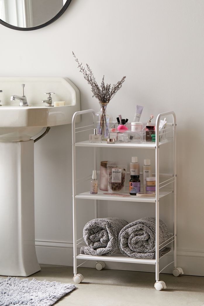 Bathroom Shelving And Storage Urban Outfitters In 2020 Decor Essentials Diy Bathroom Storage Bathroom Organization Diy